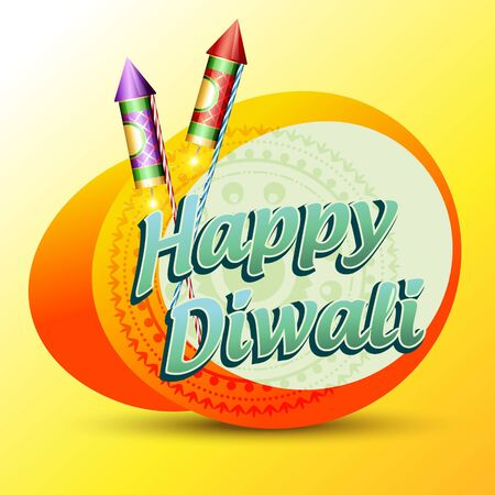 stylish vector happy diwali background Vector