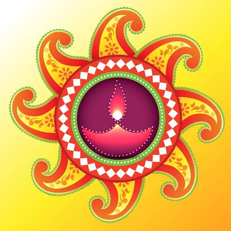 beautiful creative happy diwali vector background Vector