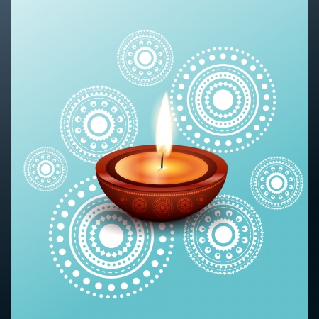 vector beautiful diwali diya design illustration Vector