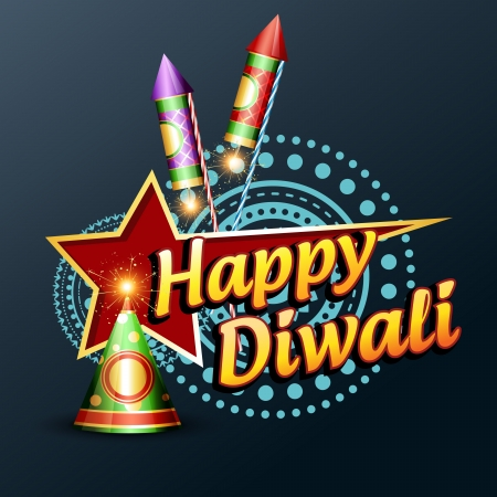 stylish happy diwali vector design illustration Vector