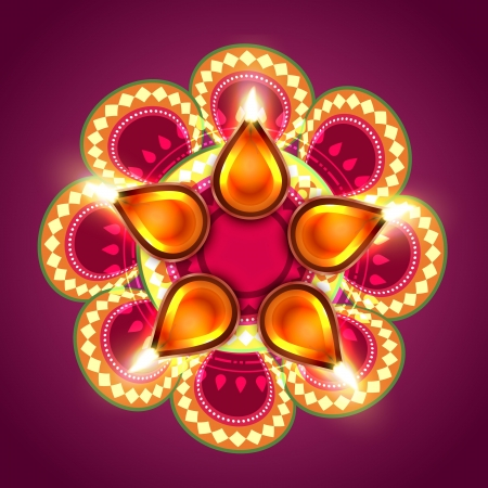 beautiful creative happy diwali vector background