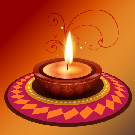 stylish vector creative diwali diya design Vector