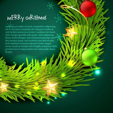 vector christmas design background art Stock Vector - 16789808