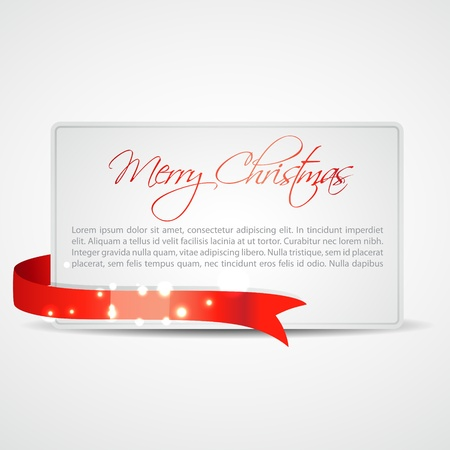 golden ribbons: stylish merry christmas card design with space for your text