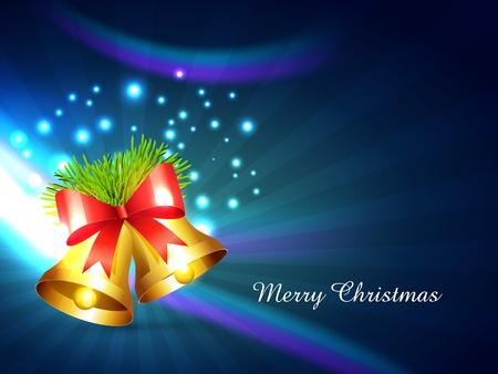 vector shiny christmas bell design background Stock Vector - 16789118