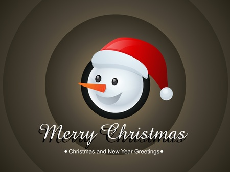cute christmas snowman vector illustration Stock Vector - 16788717