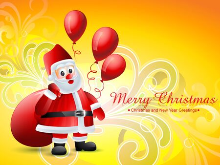 vector christmas santa claus design background Vector