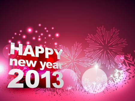 thirteen: beautiful happy new year vector design art
