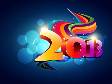 beautiful colorful happy new year design illustration Vector