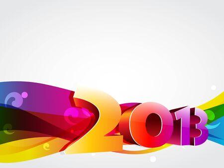 coloful: vector creative coloful happy new year design