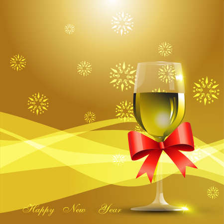 thirteen: wine glass celebration background