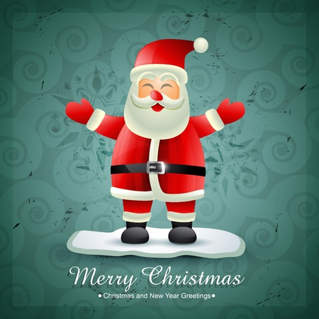 happy santa claus design illustration Vector