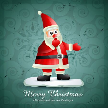 smiling santa claus design illustration Vector