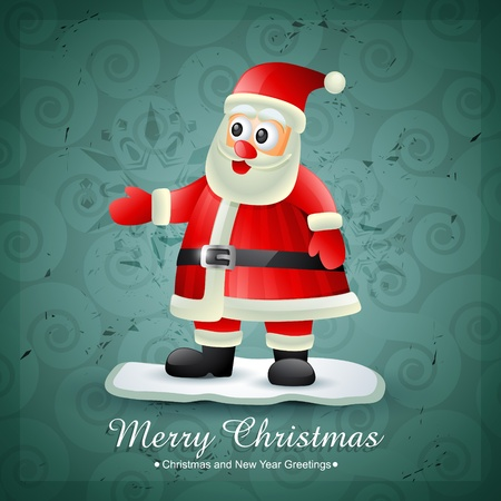 stylish santa claus vector design Vector