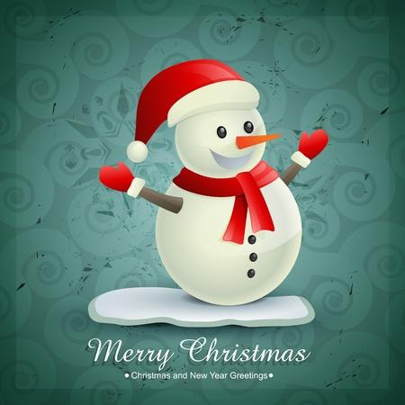 cute snowman design illustration Vector