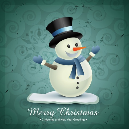 christmas winter snowman design illustration Vector