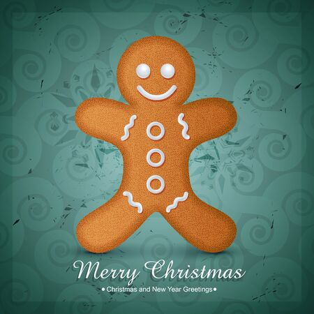 christmas cookie design illustration Stock Vector - 16957205