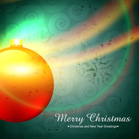 shiny christmas ball background Stock Vector - 16957130