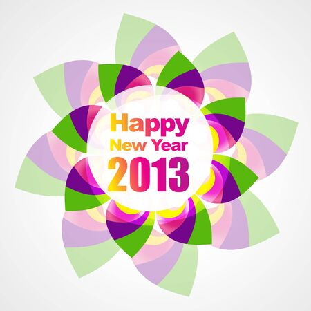 thirteen: beautiful colorful new year design