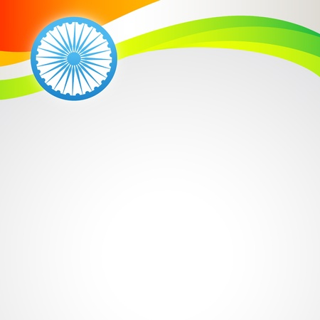 bharat: stylish vector indian flag with space for your text