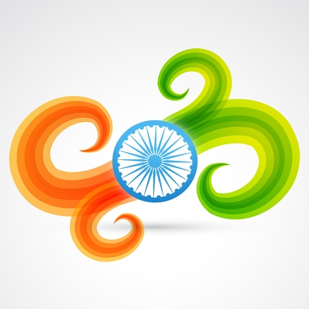 vector creative indian flag design Stock Vector - 17233713