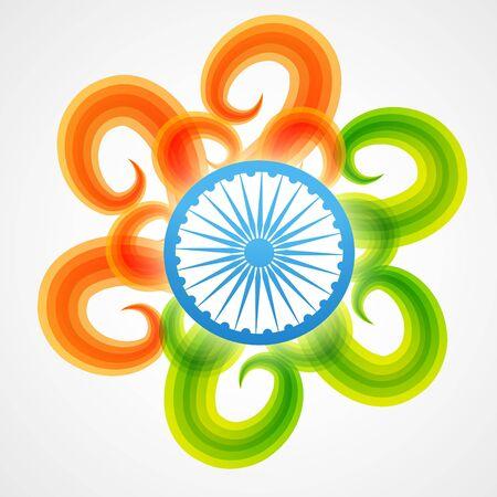 agosto: elegante creativo bandiera, disegno vettoriale indiano