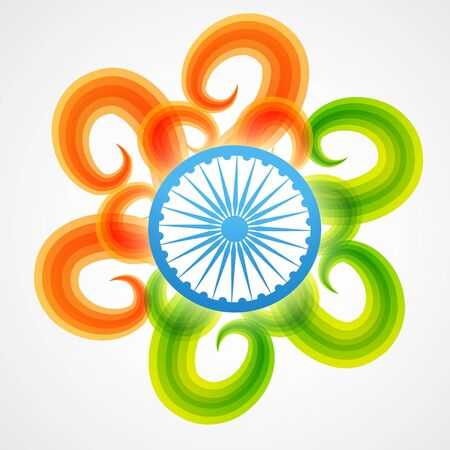 stylish creative vector indian flag design Vector