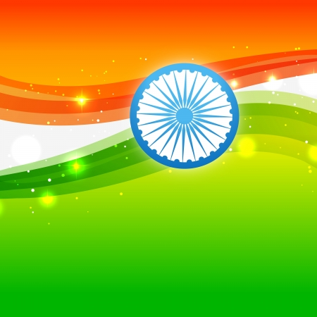 shiny indian flag vector design Vector