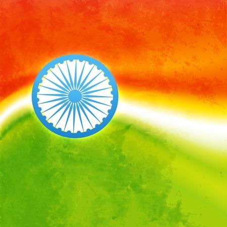 vector grunge style indian flag design Stock Vector - 17233714