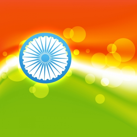 vector creative indian flag design Stock Vector - 17234053