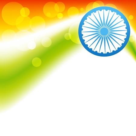 stylish creative vector indian flag design Stock Vector - 17234032