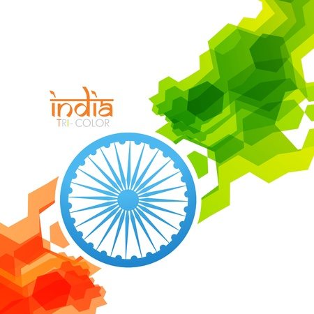 bharat: creative vector style indian flag design
