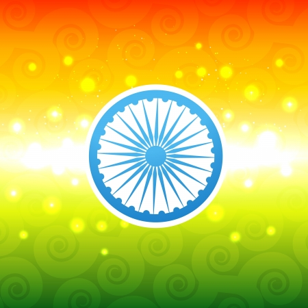 vector shiny indian flag design Stock Vector - 17233703