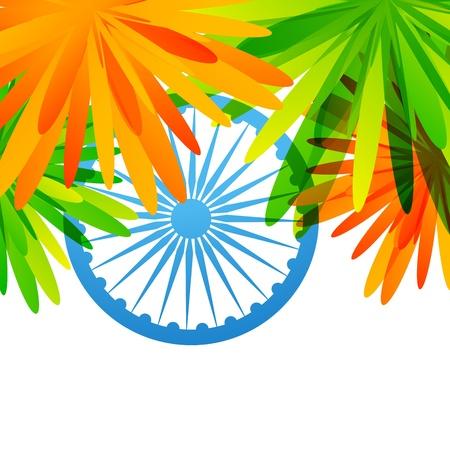 creative indian flag design vector background Stock Vector - 17233772