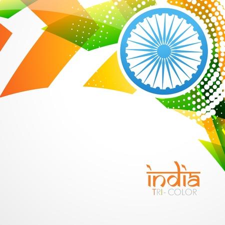 stylish creative indian flag vector design Stock Vector - 17233763