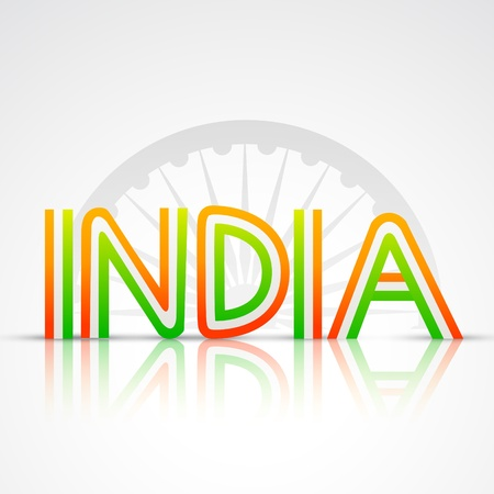 indian text in flag style design Vector