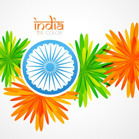 vector stylish creative indian flag design Illustration