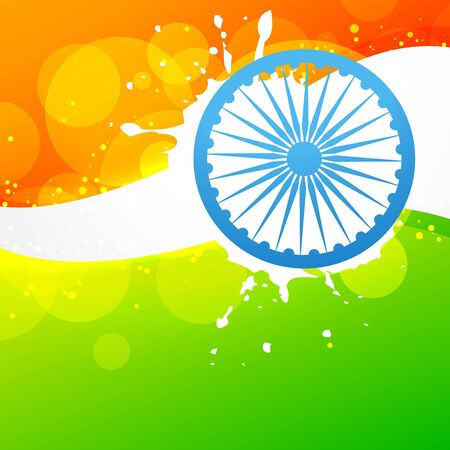 creative style vector indian flag design Stock Vector - 17233770