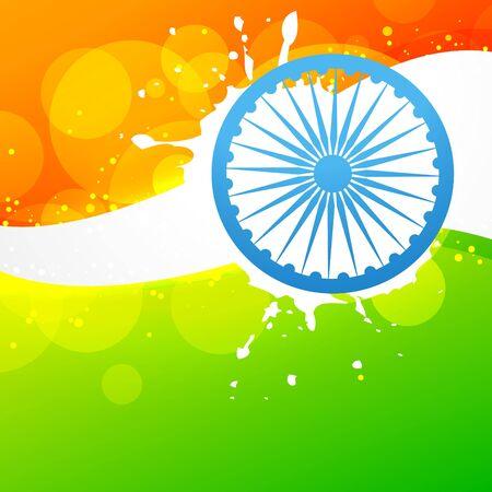 creative style vector indian flag design Stock Vector - 17233770