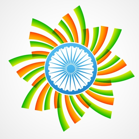 stylish vector indian flag design Stock Vector - 17233687