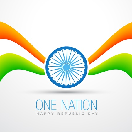 creative style vector indian flag design Stock Vector - 17233694