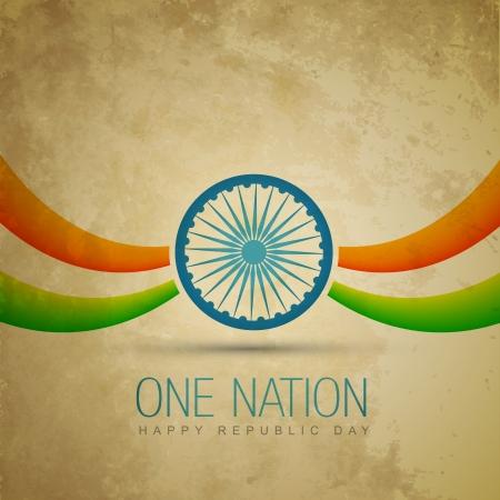 agosto: disegno vettoriale tradizionale bandiera indiana Vettoriali