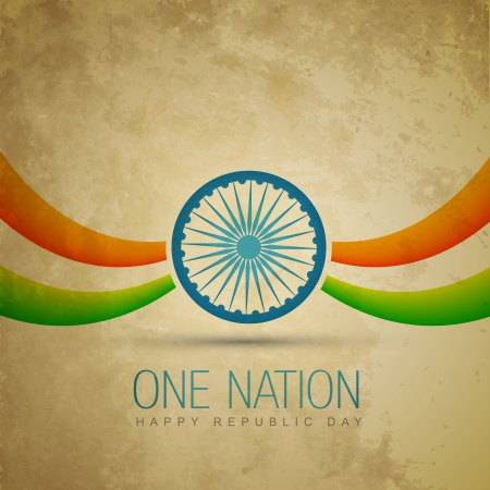 vector traditional indian flag design Vector