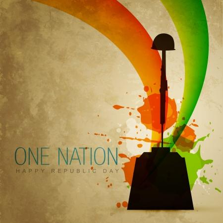 インド: インドの愛国心が強い旗スタイル アートをベクトルします。  イラスト・ベクター素材