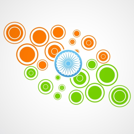 republic: indian flag design made of circles