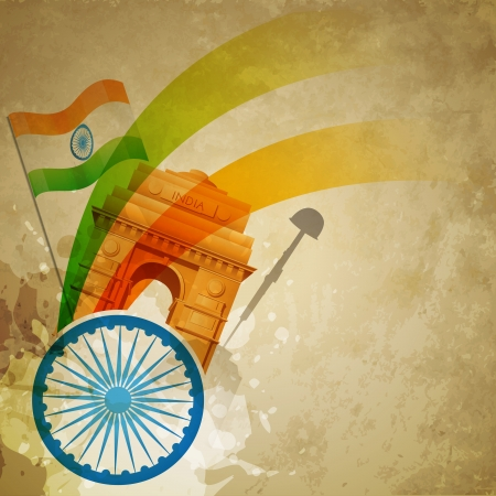 patriotic indian flag design art Vector