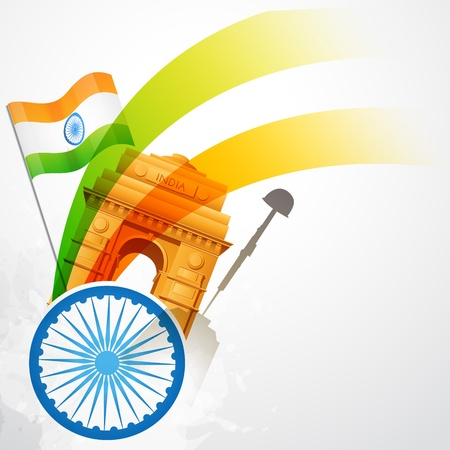 stylish creative indian flag Stock Vector - 17233686