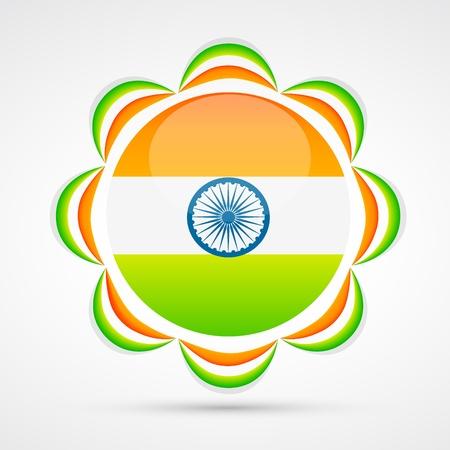 indian flag vector design art Stock Vector - 17233696