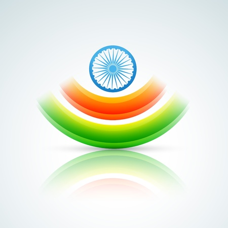 26: stylish indian flag vector design