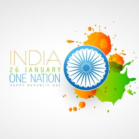 インド: インドの旗ベクトル創造的なデザイン